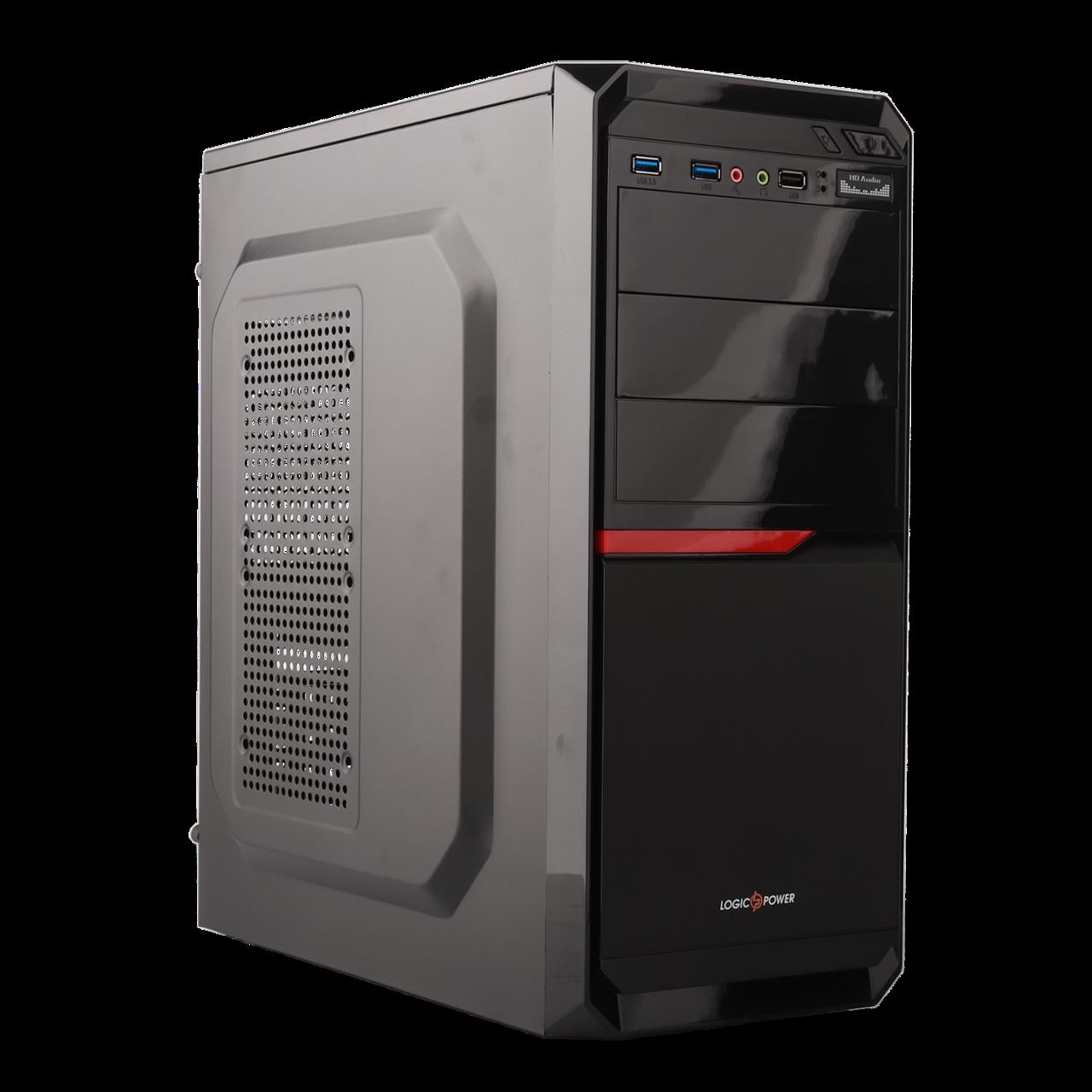 Корпус LP 2012-БЕЗ БП black case chassis cover с 2xUSB3.0+1xUSB2.0
