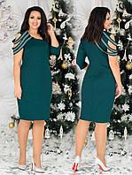 Красивое женское платье батал с 48 по 58 рр трикотаж с люрексовой нитью