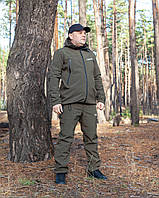 Костюм для риболовлі, костюм для полювання, костюм софтшелл, костюм Soft-shell (Олива)