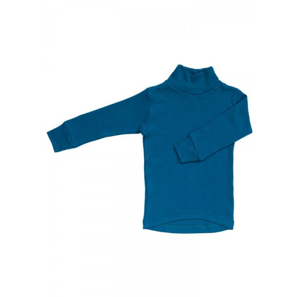 Гольф 100 % меринос для девочек Norveg Soft ниагара синий