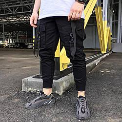 Карго штаны с лямками M