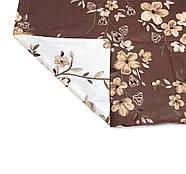"""Двуспальный комплект (Бязь)   Постельное белье от производителя """"Королева Ночи""""   Цветы на коричневом и белом, фото 4"""