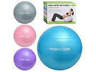 Мяч для фитнеса Profitball 65 см , гимнастический мяч для фитнеса фитбол