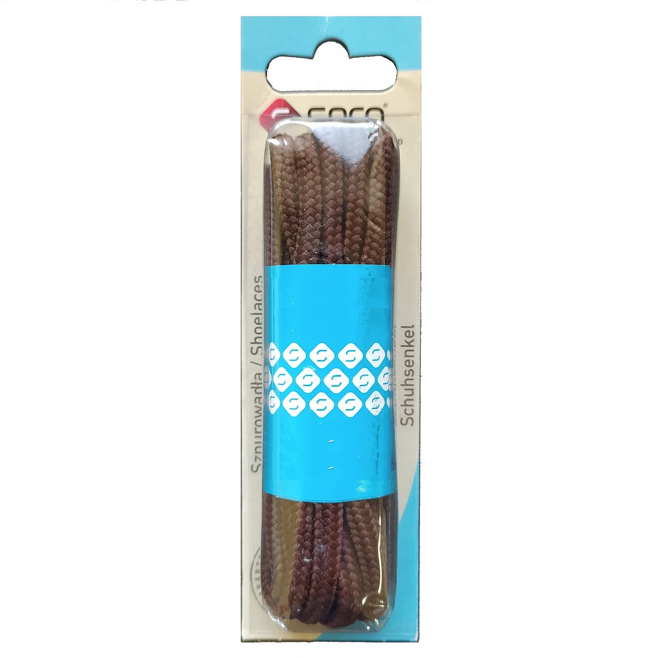 Seco шнурки / круглые / коричневые 120 см