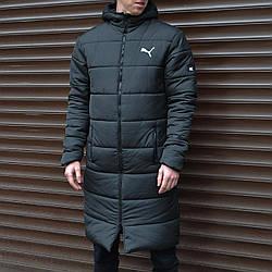 Куртка длинная Пума черный XL