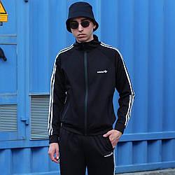 Олимпийка Адидас Классик крепдайвинг чёрный