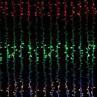 Гирлянда штора светодиодная, 240 LED, Мультицветная, прозрачный провод, 3х1,5м., фото 2