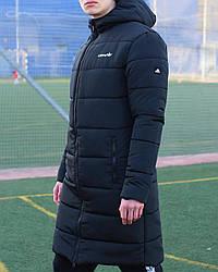Куртка длинная Адидас черный