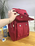 Сумка - рюкзак для мам Mommybaby/Мами бэйби; вишневый цвет., фото 8