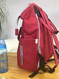 Сумка - рюкзак для мам Mommybaby/Мами бэйби; вишневый цвет., фото 5