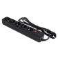 Фильтр-удлинитель сетевой LogicPower LP-X5, 5 розеток, цвет-черный, 3,0 m, фото 2