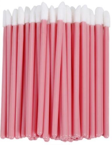 Макробраші одноразові, пензлики для макіяжу, аплікатори для помади (50 шт/уп)