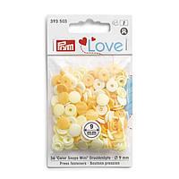 Непришивные кнопки «Color Snaps Mini», 9 мм, цвета желтые Prym Love 393503, фото 1