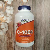 Now Foods Vitamin C-1000 , 250 veg caps with Bioflavonoids , витамин С с биофлаваноидами, фото 1