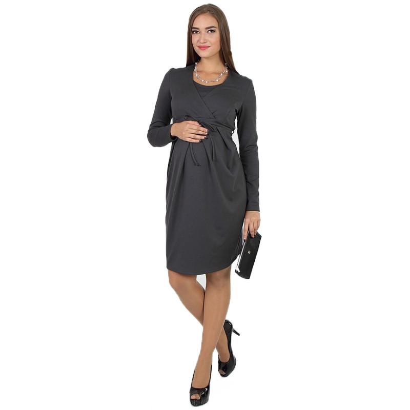 Плаття для вагітних і годуючих ЮЛА МАМА Winona (розмір S, сірий)