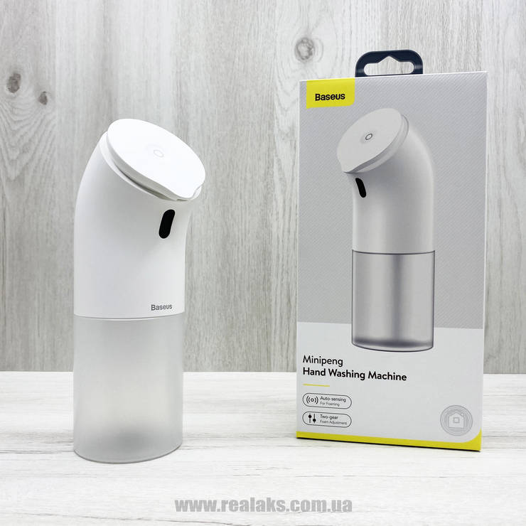 Aвтоматический дозатор мыльной пены BASEUS Minipeng Hand Washing Machine (white), фото 2