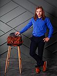 Яркая мужская рубашка цвета электрик с длинным рукавом, фото 5