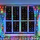 Гирлянда штора светодиодная, 240 LED, Мультицветная, прозрачный провод, 3х1,5м., фото 3
