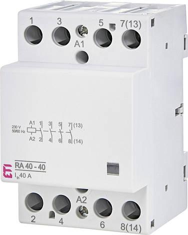 Модульный контактор ETI RA 40-40 40А 4NO 230V 2464095, фото 2