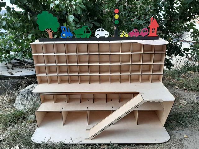 Детские гаражи из дерева кукольные домики