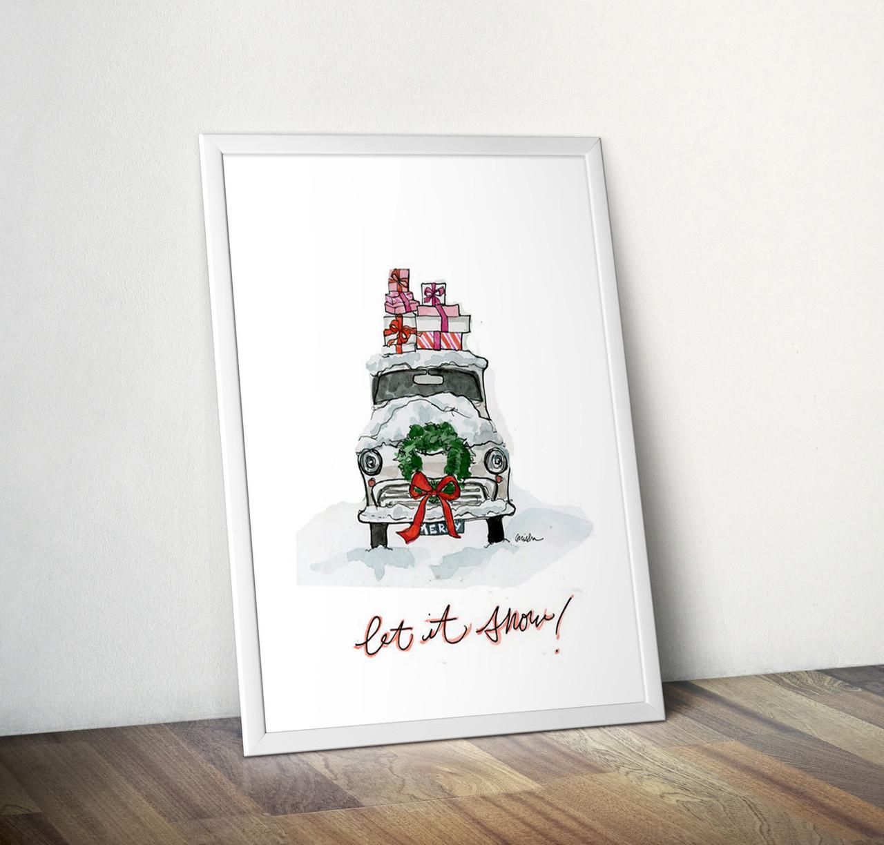 Новогодний постер А4 формата