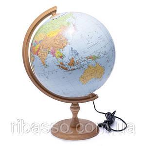 Глобус 320 политико-физический с подсветкой  (английский) 540212