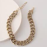 """Цепочка с крупными звеньями """"Gold Leopard"""", золото, фото 4"""