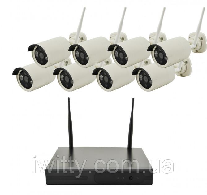 Беспроводной комплект для видео-наблюдения WiFi Full KIT (8 шт)