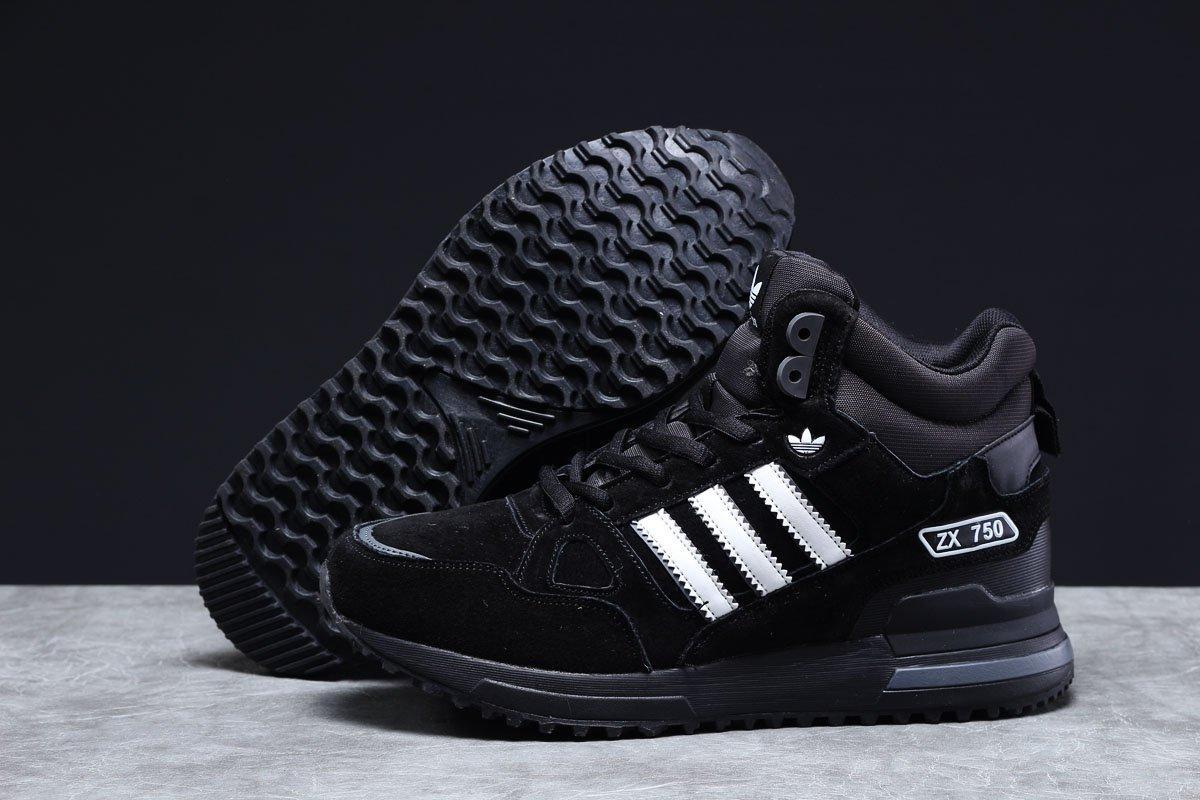 Мужские зимние кроссовки Adidas ZX 750 высокие на меху