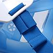 Полнолицевая панорамная маска для плавания FREE BREATH (L/XL) M2068G с креплением для камеры Синий, фото 4