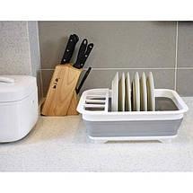 Складная силиконовая сушилка для посуды, фото 2