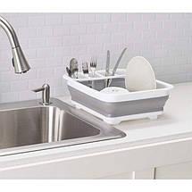 Складная силиконовая сушилка для посуды, фото 3