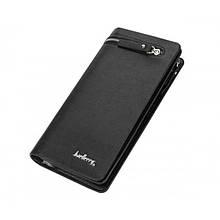 Мужской кошелек клатч портмоне барсетка Baellerry 618 business Чёрный