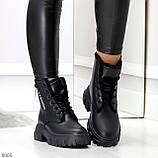 Комфортные черные зимние женские ботинки по доступной цене, фото 2