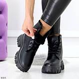 Комфортные черные зимние женские ботинки по доступной цене, фото 3