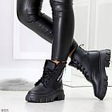 Комфортные черные зимние женские ботинки по доступной цене, фото 6