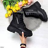 Комфортные черные зимние женские ботинки по доступной цене, фото 7
