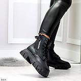 Комфортные черные зимние женские ботинки по доступной цене, фото 8