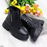 Комфортные черные зимние женские ботинки по доступной цене, фото 10