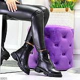 Мега удобные теплые черные женские ботинки натуральная кожа, фото 9