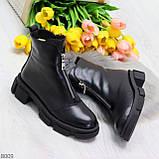 Мега удобные теплые черные женские ботинки натуральная кожа, фото 10