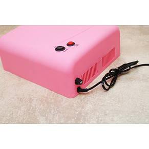 УФ лампа для наращивания ногтей на 36 Вт Розовая, фото 2