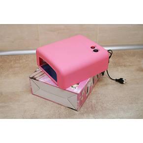 УФ лампа для наращивания ногтей на 36 Вт Розовая, фото 3
