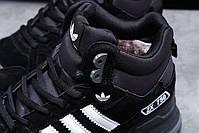 Мужские зимние кроссовки Adidas ZX 750 высокие на меху, фото 4