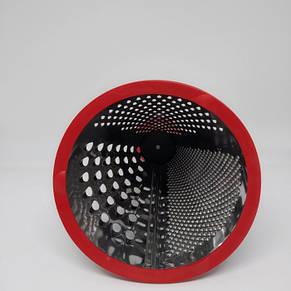 Кухонная терка из нержавеющей стали Giakoma G-1402 конусная Красная, фото 3