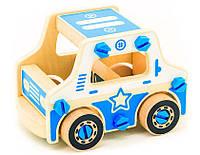 Дерев'яні конструктори - іграшка для дітей Поліція