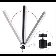 Кольцевая LED лампа 20 см селфи кольцо для блогера, фото 3