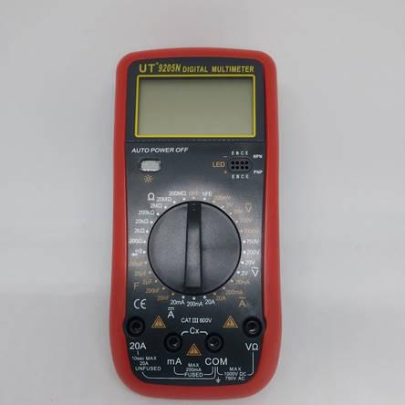 Цифровой Профессиональный мультиметр UT9205N тестер вольтметр, фото 2