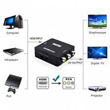 Адаптер HDMI to AV RCA переходник конвертер 720p/1080p, фото 3