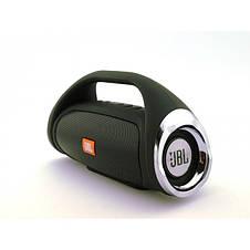 Портативная FM MP3 колонка JBL Boombox mini bluetooth microSD/TF и USB Чёрный, фото 2